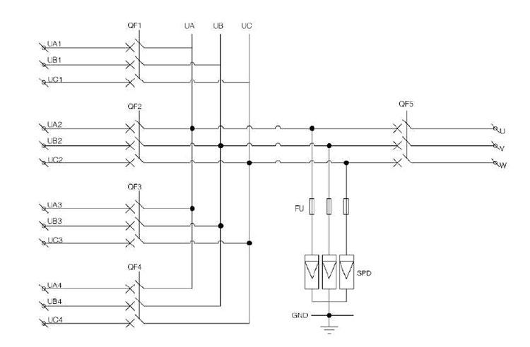 Shlx-ac4  1 Ac Combiner Box