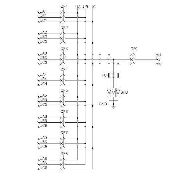 Shlx-ac8  1ac Combiner Box